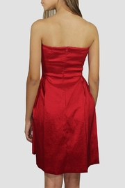 SoZu Red Strapless Dress - Side cropped
