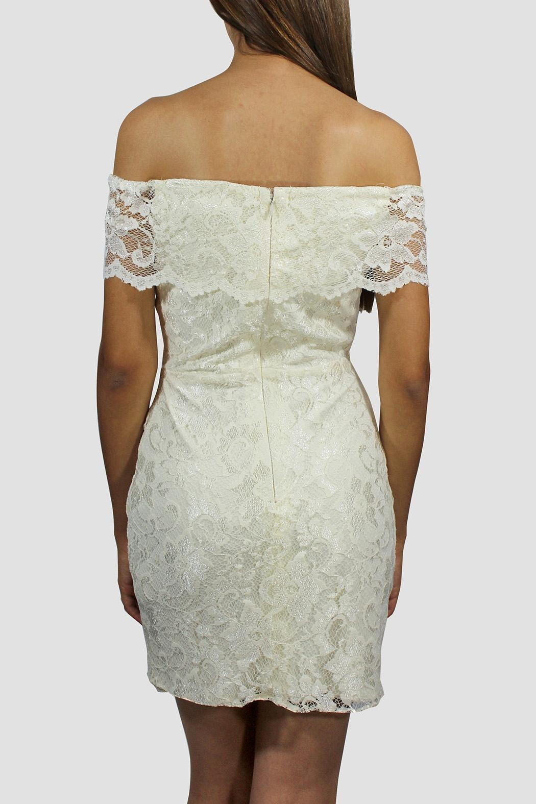 SoZu Lace Cocktail Dress - Side Cropped Image