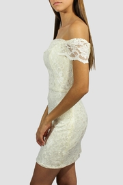 SoZu Lace Cocktail Dress - Front full body