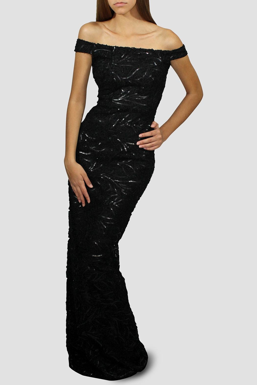 SoZu Sequin Sheath Dress - Front Cropped Image
