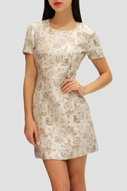 SoZu Sleeves Brocade Dress - Product Mini Image