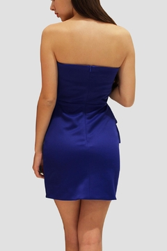 SoZu Strapless Peplum - Alternate List Image