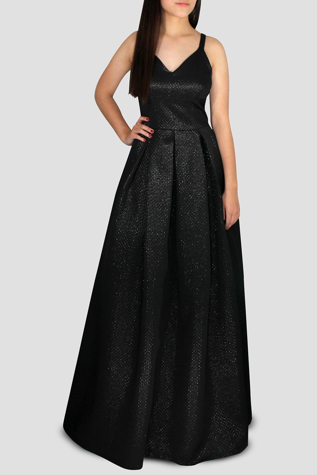 SoZu V-Neck Bell Gown - Main Image