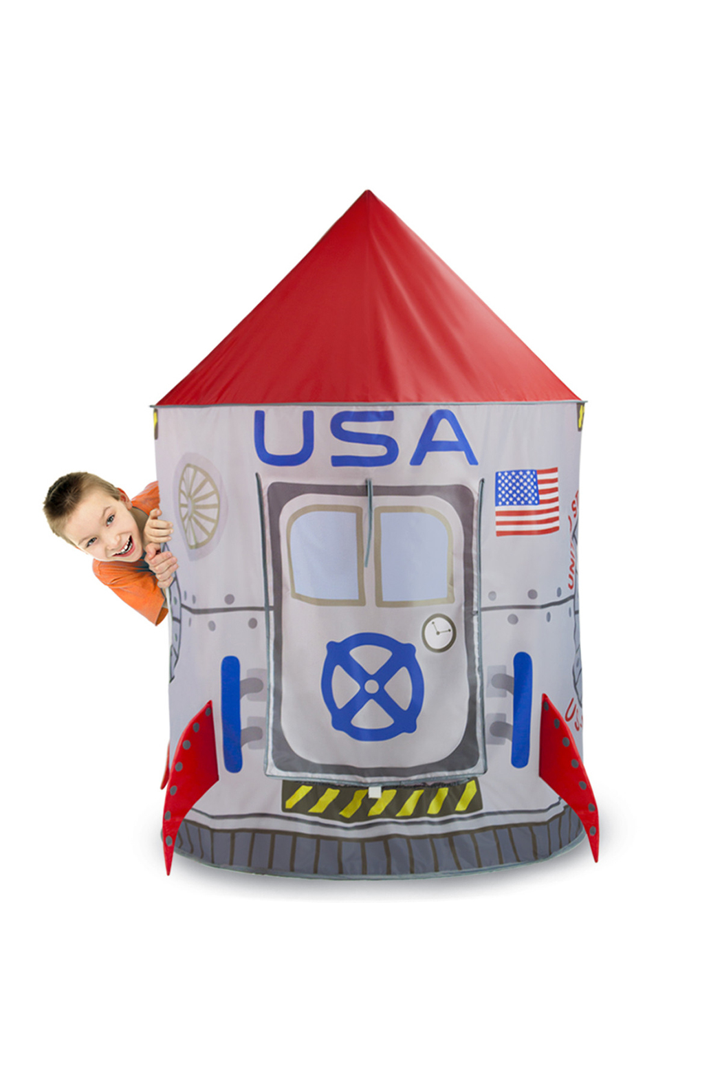 Brybelly Space Adventure Roarin' Rocket Play Tent - Side Cropped Image