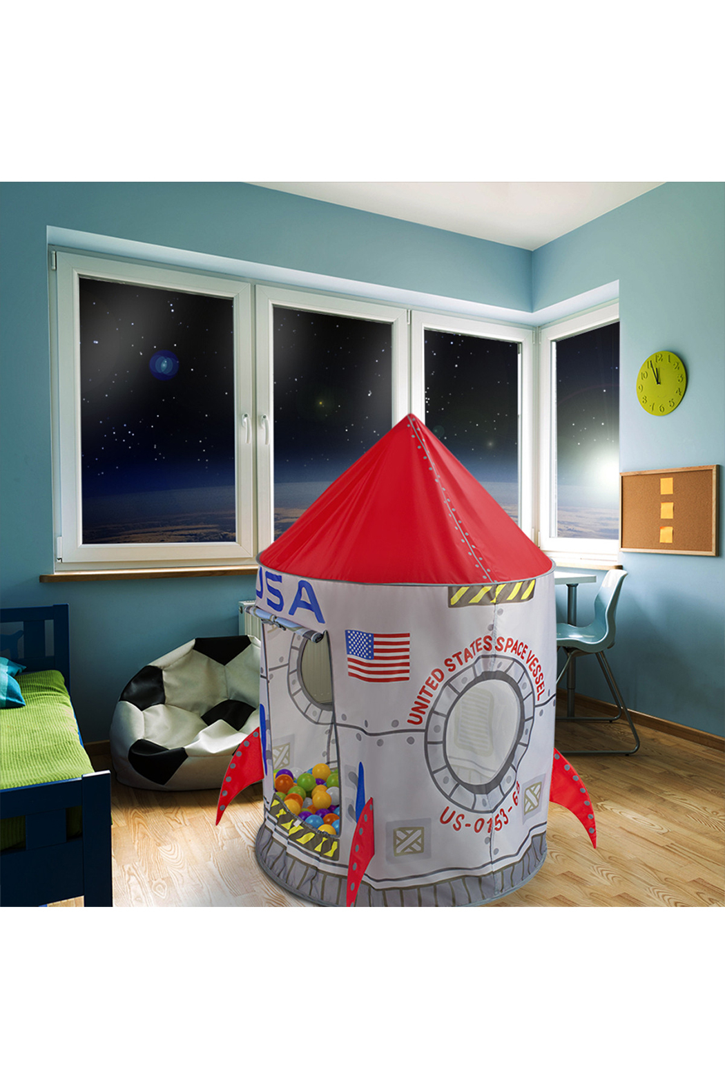 Brybelly Space Adventure Roarin' Rocket Play Tent - Main Image