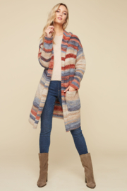 Charlie B. Space Dyed Cardigan with Hood - Product Mini Image