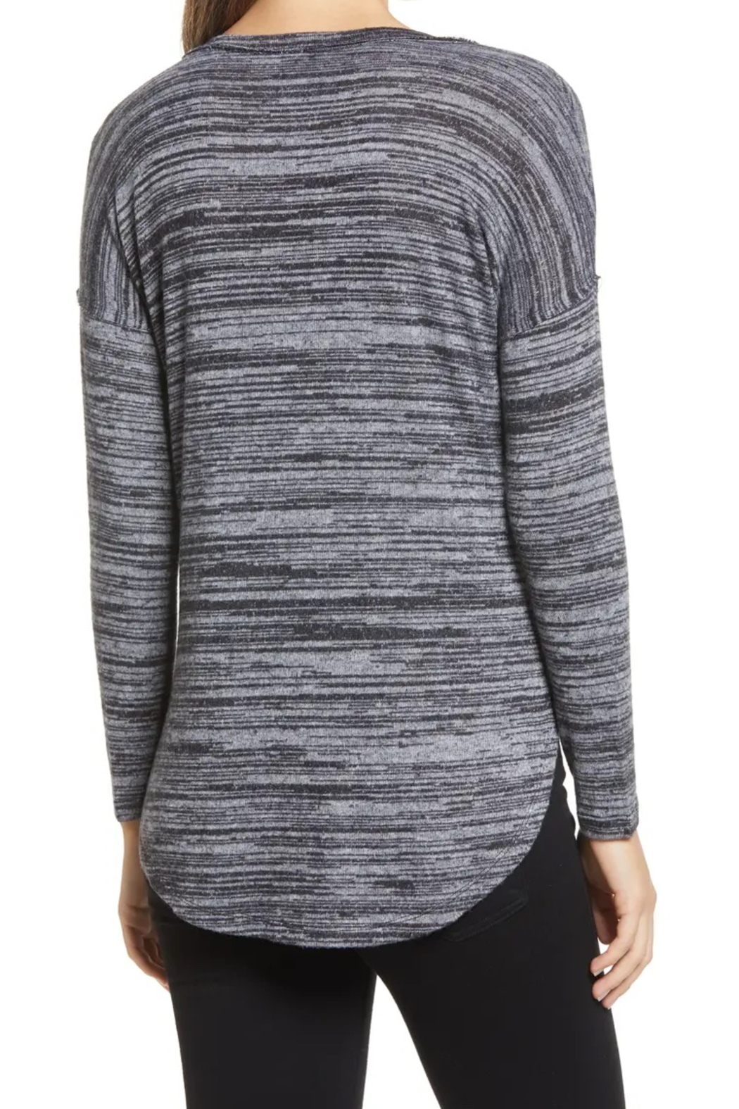 Bobeau Space Dyed Knit Top - Side Cropped Image