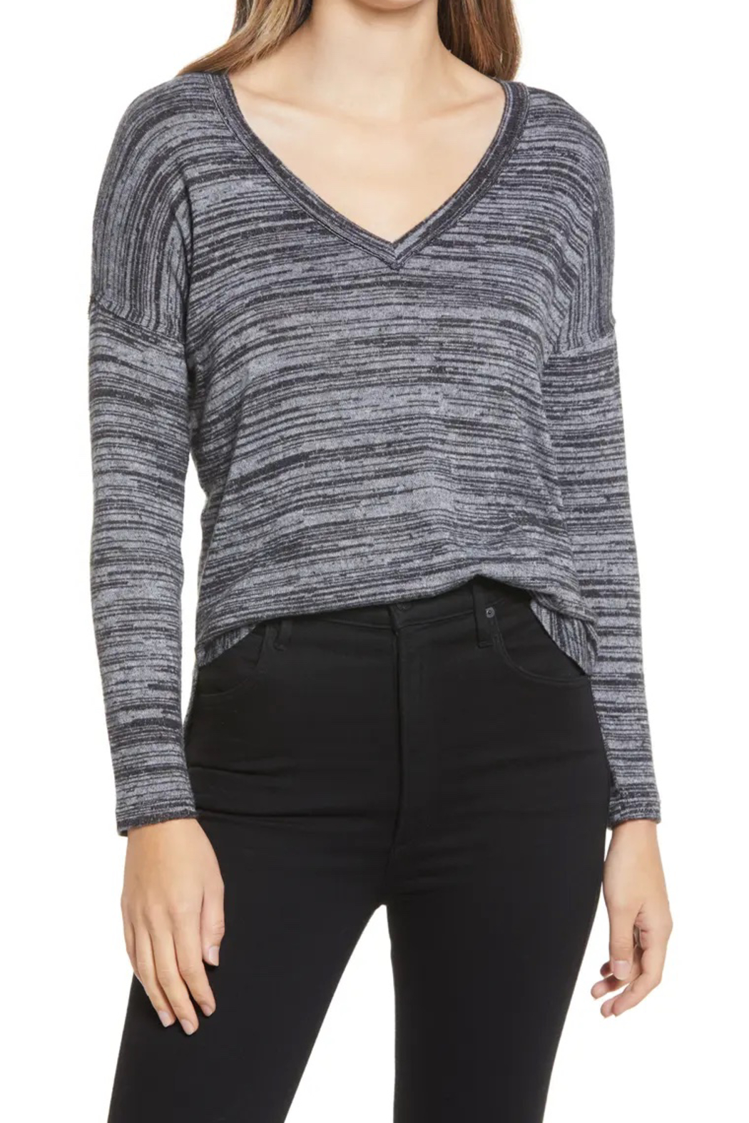Bobeau Space Dyed Knit Top - Main Image