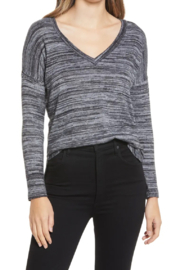 Bobeau Space Dyed Knit Top - Front cropped