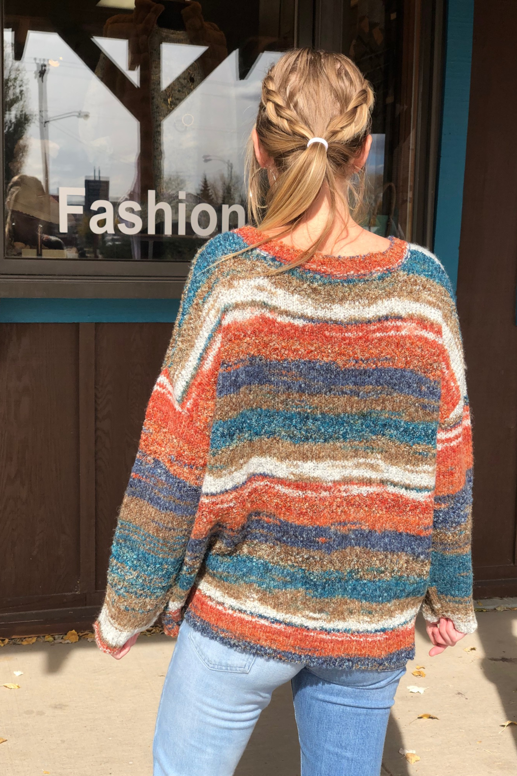 sisters Space Dyed Sweater - Side Cropped Image