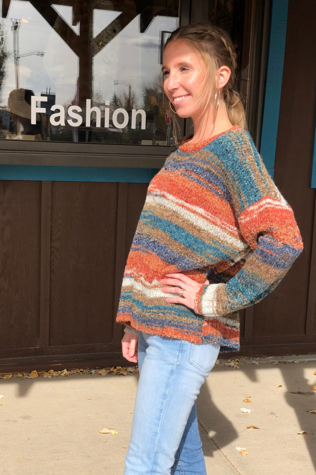 sisters Space Dyed Sweater - Front Full Image