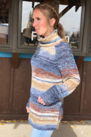 sisters Space Dyed Turtleneck - Front full body