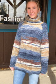sisters Space Dyed Turtleneck - Front cropped