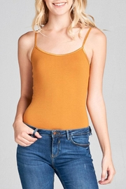 Active Basic Spaghetti Fashion Bodysuit - Front cropped