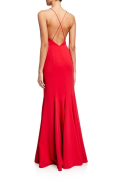 Aidan Mattox Spaghetti Strap Deep V Mermaid Gown - Alternate List Image
