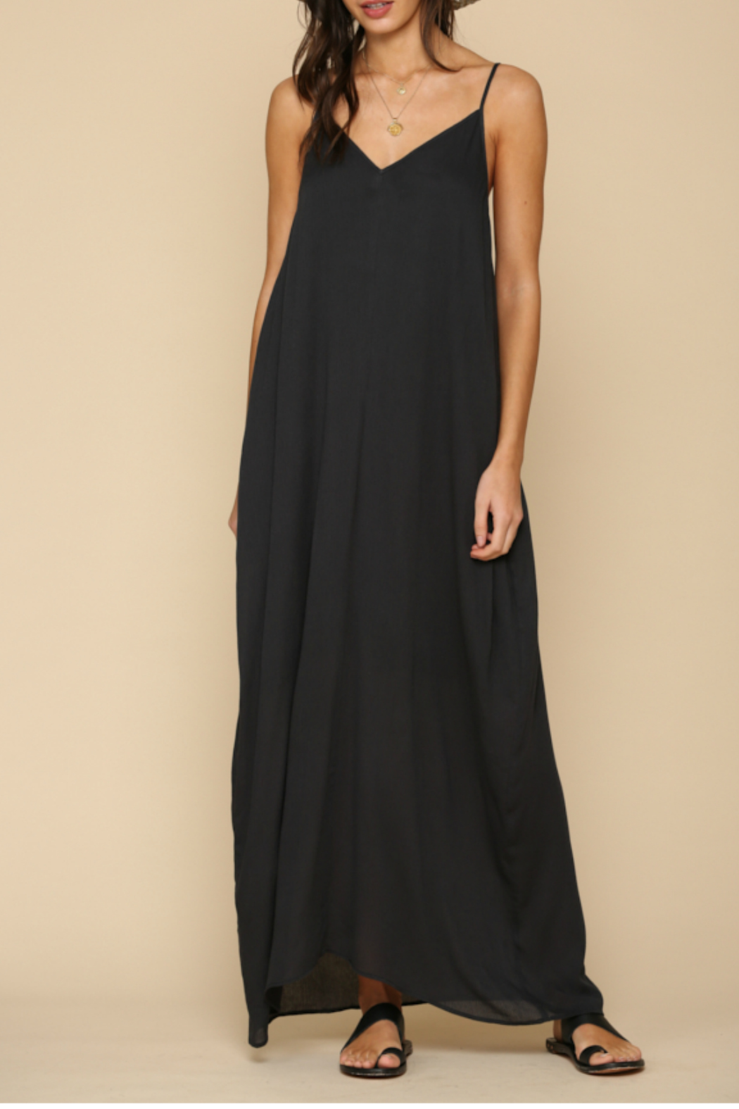 By Together  Spaghetti strap  maxi dress - Front Cropped Image