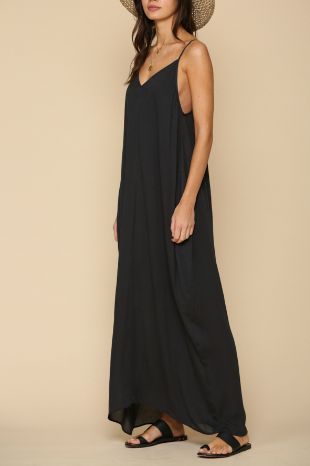 By Together  Spaghetti strap  maxi dress - Front Full Image