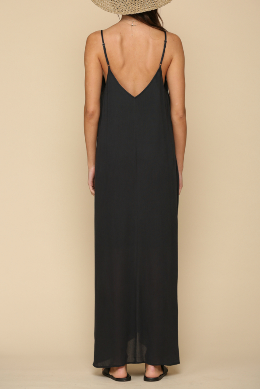 By Together  Spaghetti strap  maxi dress - Side Cropped Image