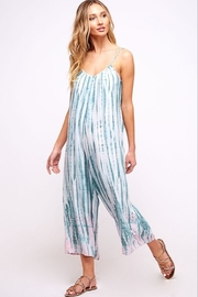 Fantastic Fawn Spaghetti Strap Tie Dye Cropped Jumpsuit - Product Mini Image