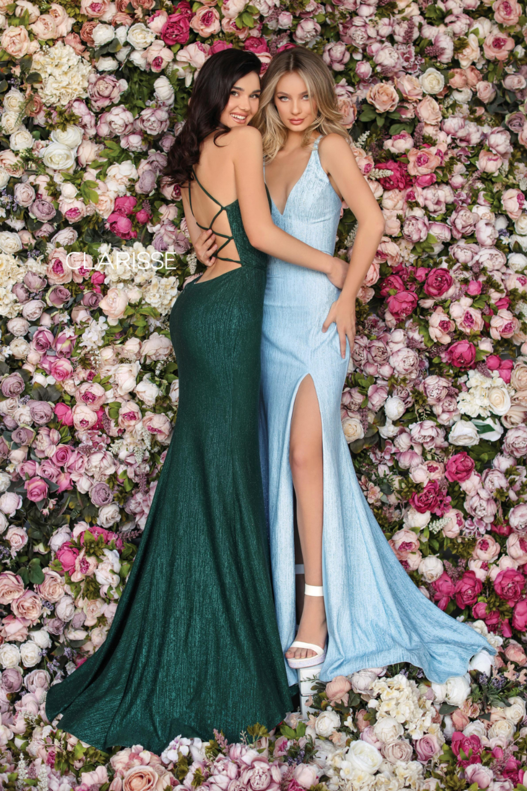 CLARISSE Spakly Green Gown - Main Image