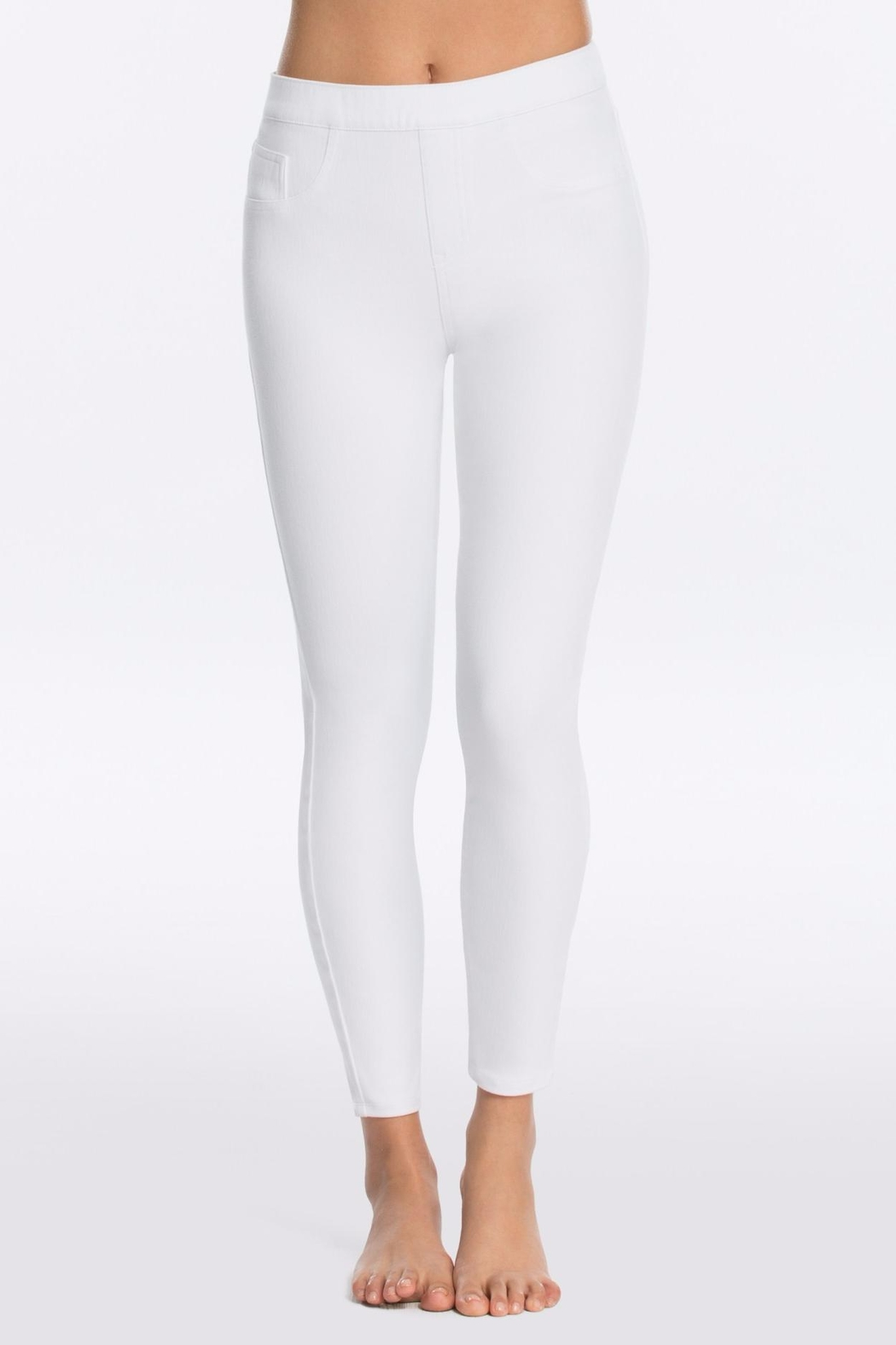 Spanx Denim Ankle Legging - Front Cropped Image