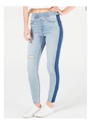 Spanx Elastic Stipe Jeans - Front cropped