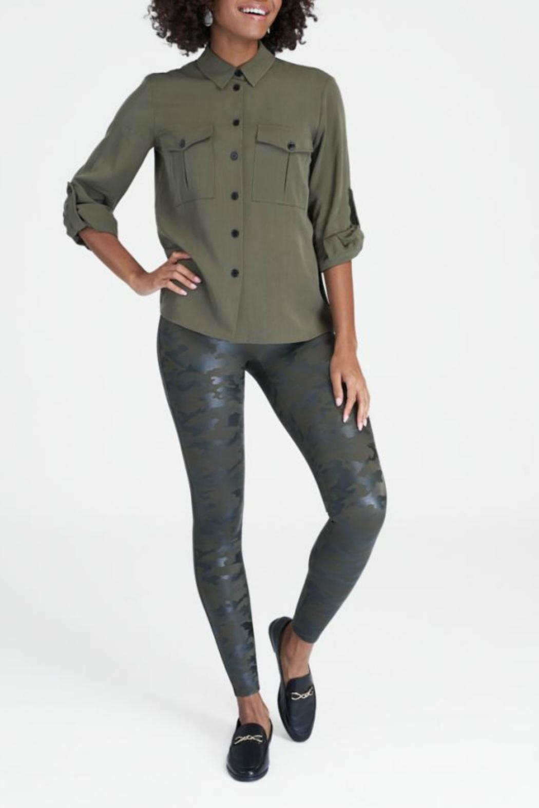 Spanx Faux Leather Camo Leggings - Main Image