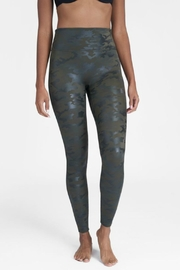 Spanx Faux Leather Camo Leggings - Back cropped