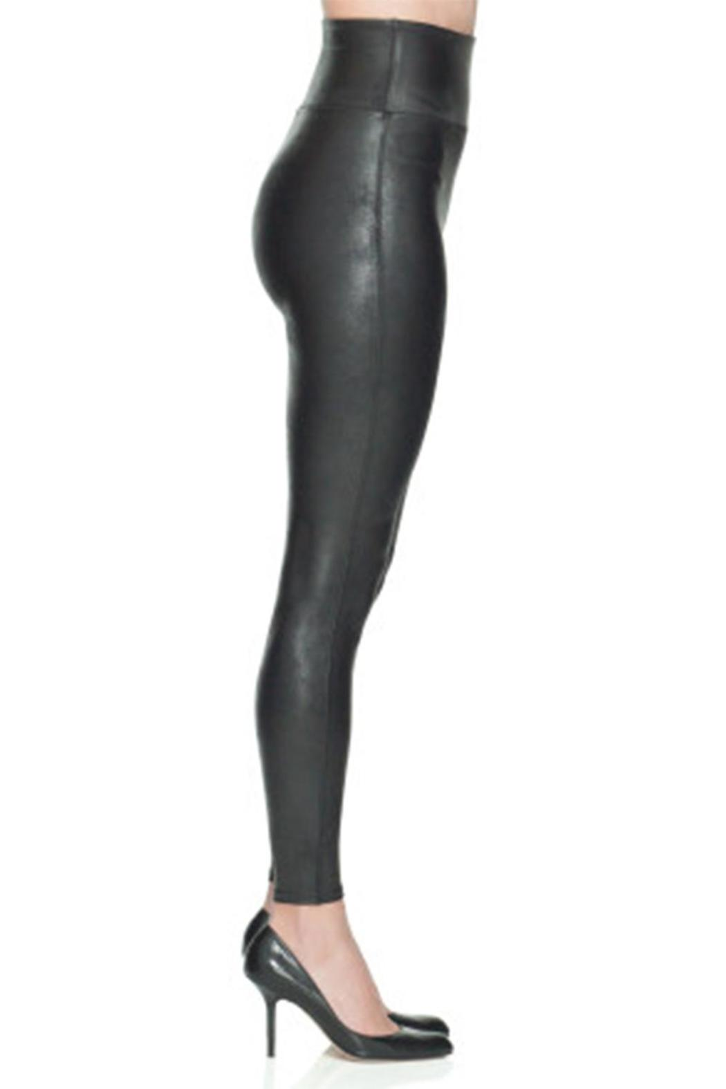 Spanx Faux Leather Legging - Back Cropped Image