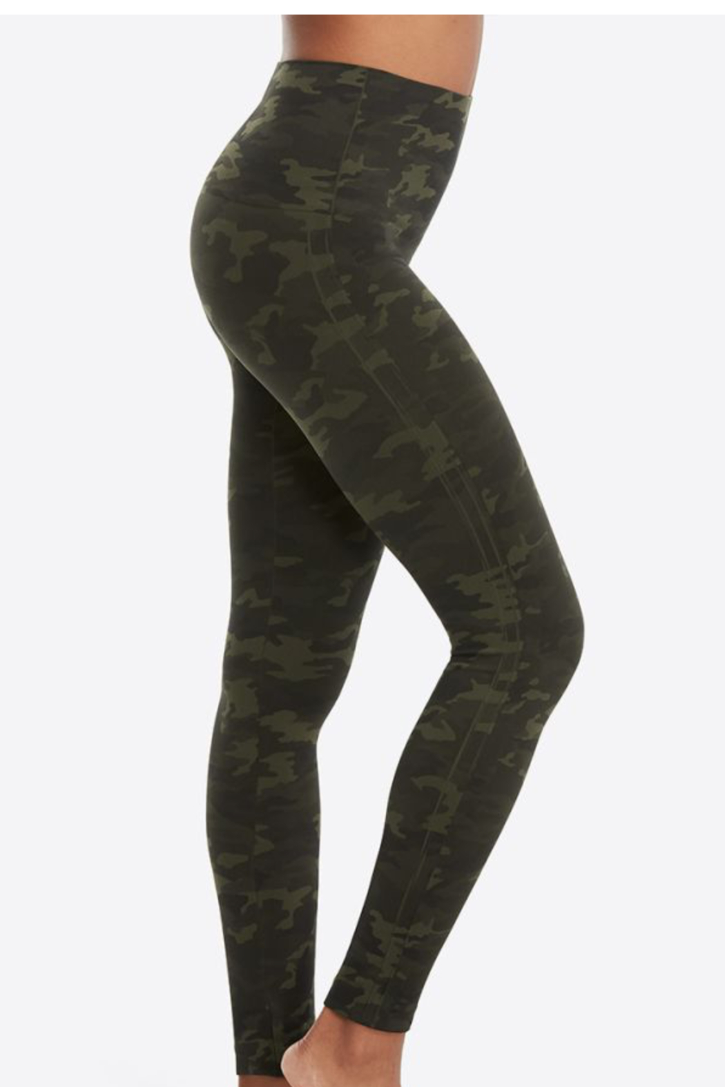 Spanx green Look at Me Now Seamless Leggings - Front Full Image