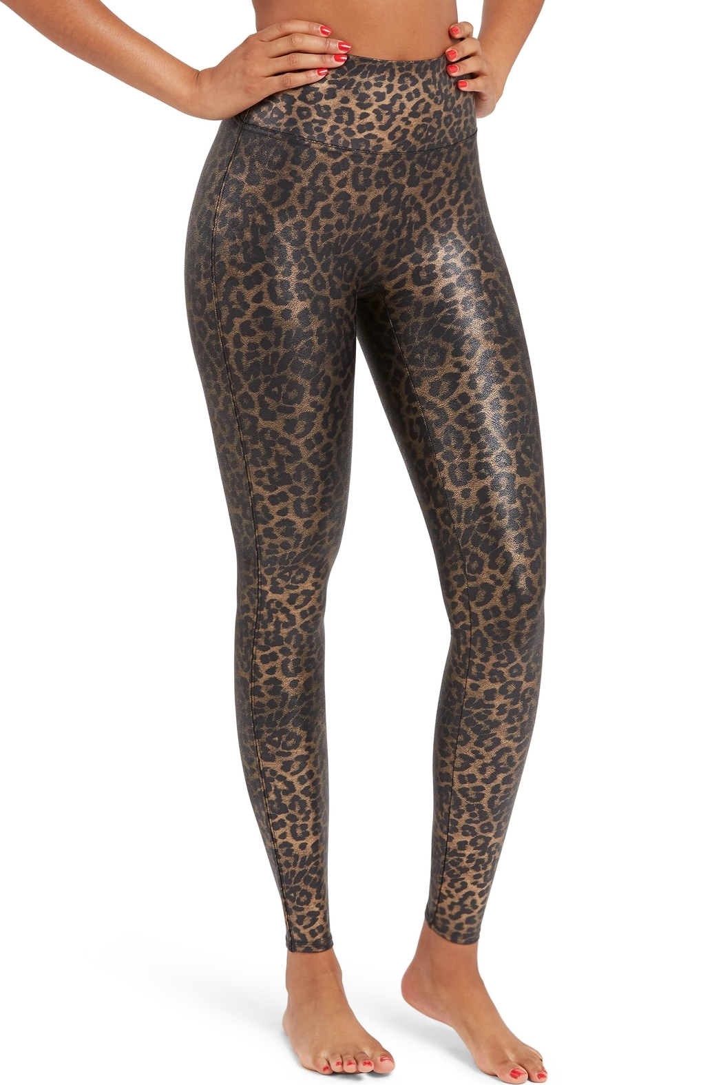Spanx Leopard Faux-Leather Leggings - Main Image