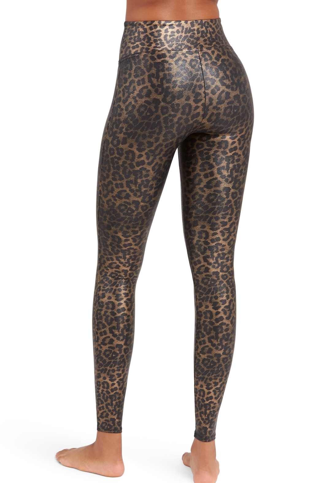 Spanx Leopard Faux-Leather Leggings - Front Full Image
