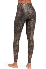 Spanx Leopard Faux-Leather Leggings - Front full body