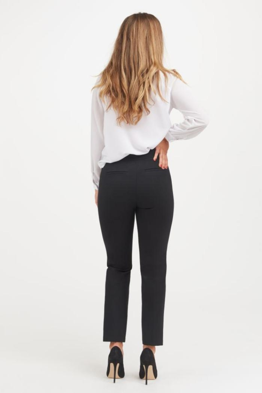Spanx Perfect Black Pant - Slim Straight - Side Cropped Image