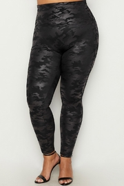 Spanx Plus-Size Faux-Leather Camo-Leggings - Front cropped