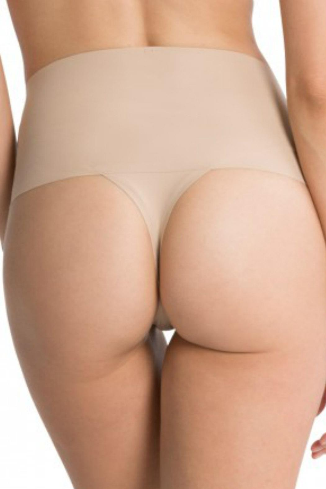 Spanx Undie Tectable Thong - Back Cropped Image
