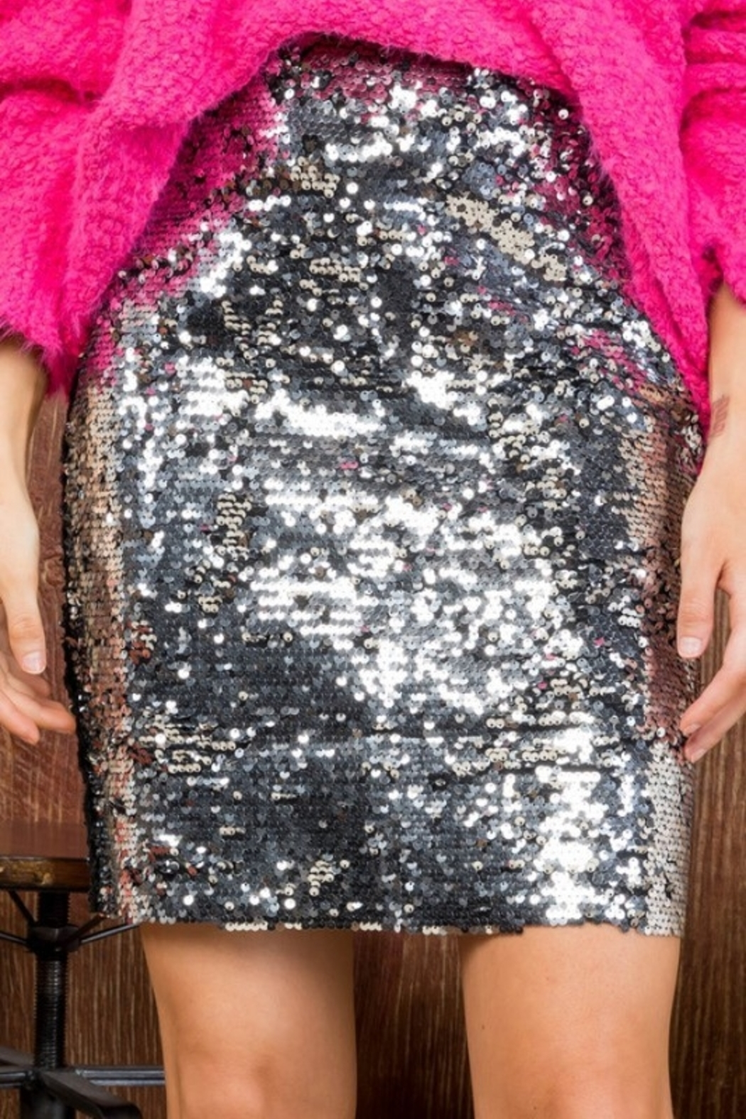 Main Strip Sparkle Baby Skirt - Front Cropped Image