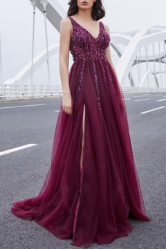 Jadore Sparkle Berry Gown - Product List Image