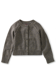 Tea Collection  Sparkle Cardigan - Charcoal Grey - Front cropped
