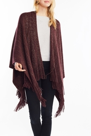 Look by M Sparkle Fringe Shawl - Front cropped