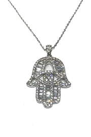 Lets Accessorize Sparkle Hamsa Necklace - Product Mini Image