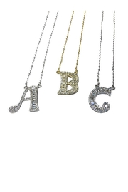 Lets Accessorize Sparkle Initial Necklace - Front cropped