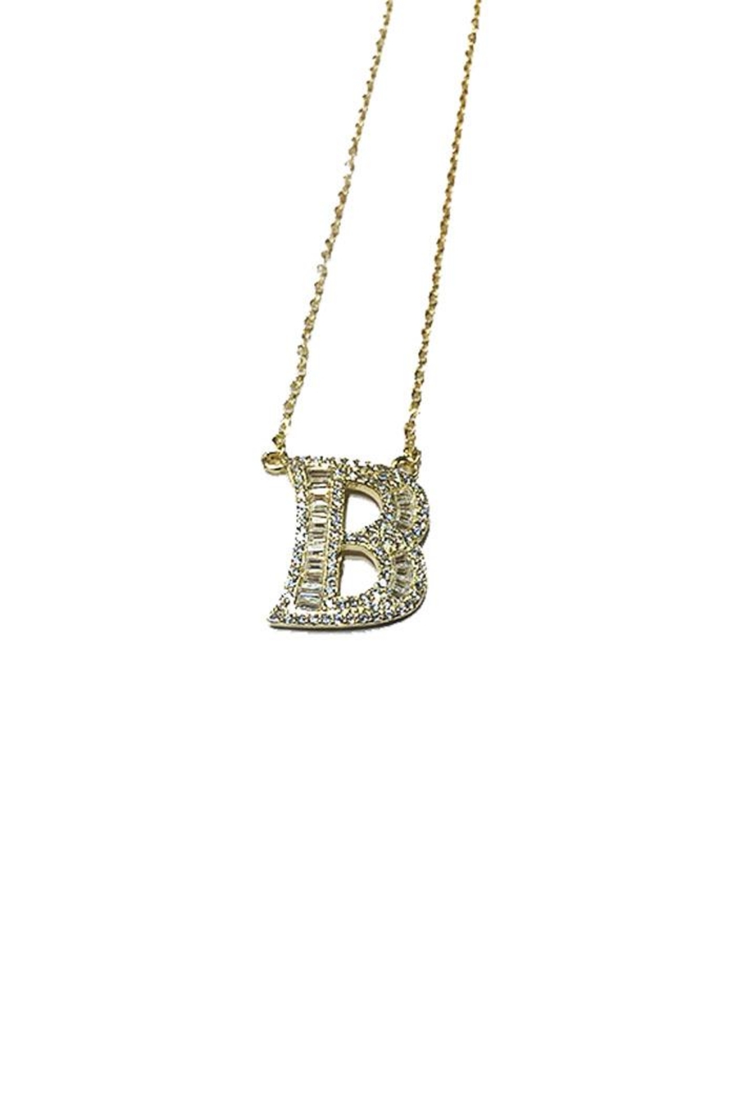 Lets Accessorize Sparkle Initial Necklace - Front Cropped Image
