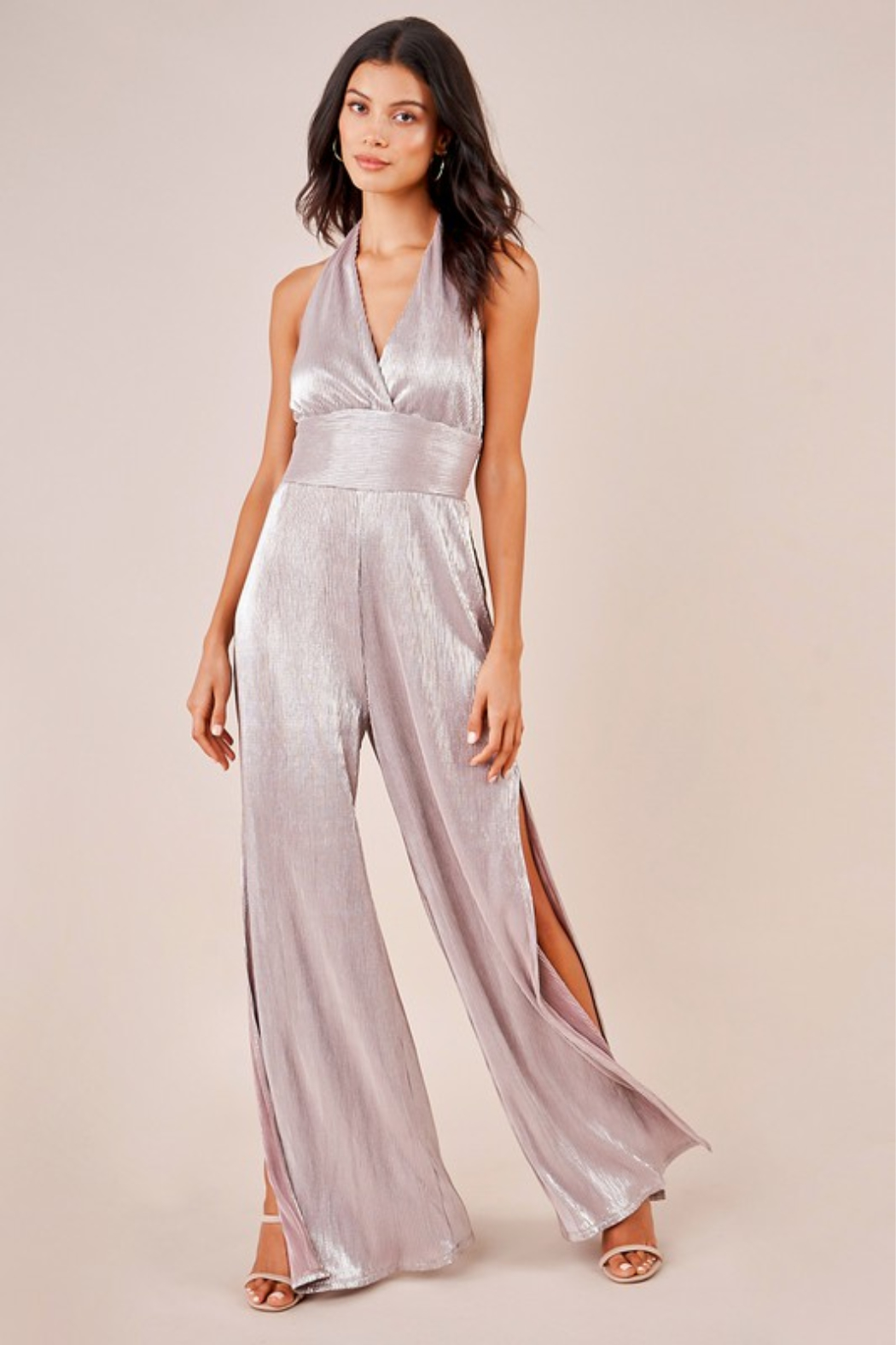 Sugar Lips Sparkle Jumpsuit - Front Cropped Image