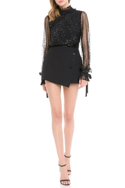 Endless Rose Sparkle Mesh Top - Front full body
