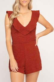 She + Sky Sparkle On romper - Front cropped