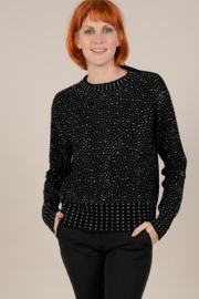 Molly Bracken Sparkle Rounded Neck Sweater - Product Mini Image