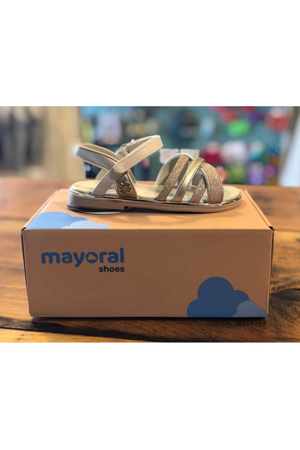 Mayoral Sparkle Sandals - Front Cropped Image
