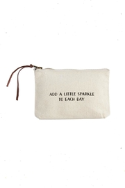 Mud Pie Sparkle-Sentiment Canvas Pouch - Product Mini Image