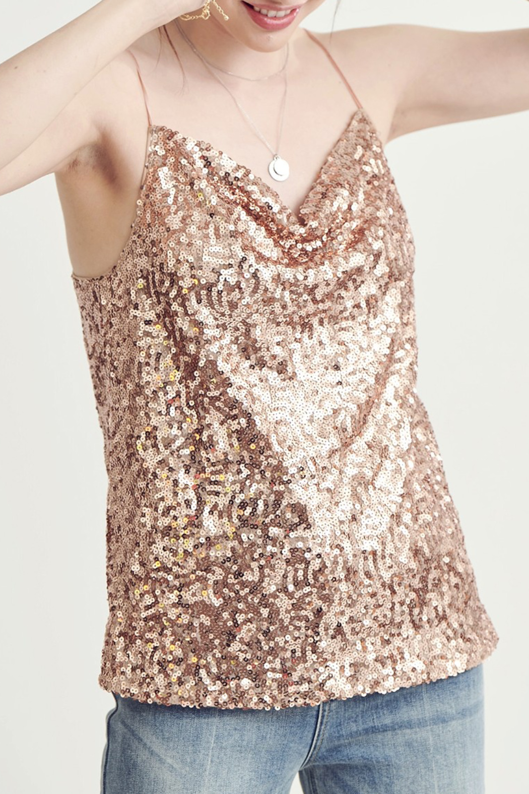 Wishlist  Sparkle Sequin Tank - Front Cropped Image